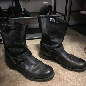 Barely worn Frye motorcycle boots